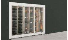 Combination of modular refrigerated cabinets