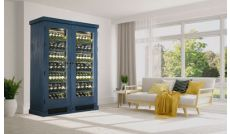 Secured wine cabinet