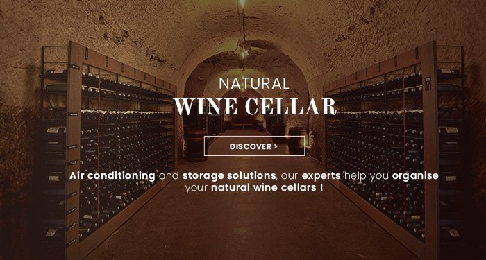 Air conditioning & installation of a natural wine cellars