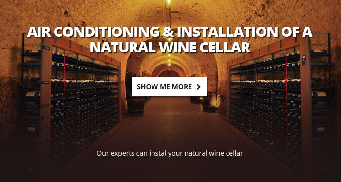 Air conditioning & installation of a natural wine cellar