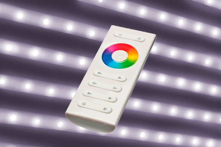 Natural white LED (4000-4500°K) + controller with remote control to ajust the intensity