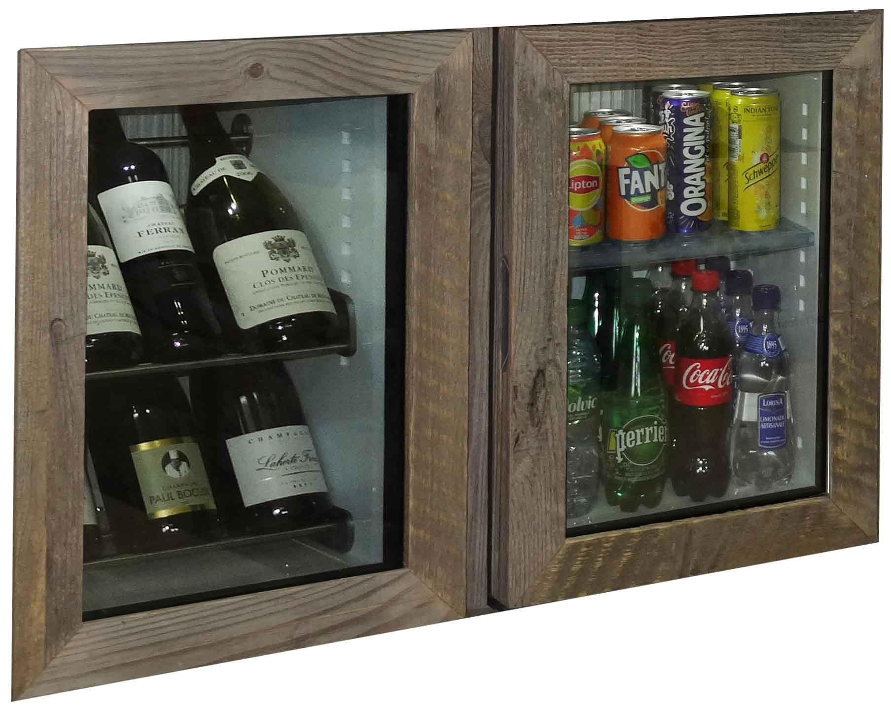 Minibar on the right hand side and Mini-winebar on the left hand side