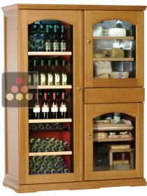 Gourmet combination : Single-temperature wine cabinet, cheese cabinet & cigar humidor CALICE