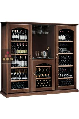 Combination of 3 Single temperature wine cabinets for storage or service