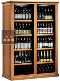 Combined 2 Single temperature wine storage or service cabinets CALICE