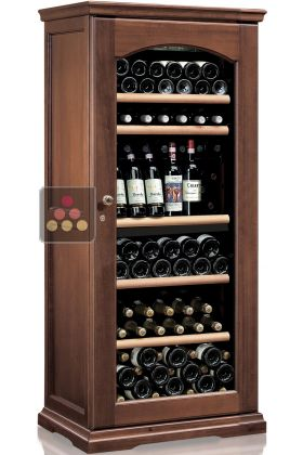 Dual temperature wine cabinet for service and storage