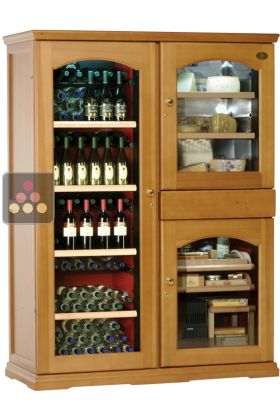 Gourmet Combination Multi Temperature Wine Cabinet Cheese Cigar Humidor