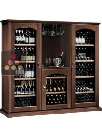 Combination of 3 multi temperature wine cabinets for service & storgage + home wine bar CALICE
