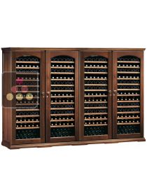 Combination of 4 single temperature wine storage cabinets CALICE