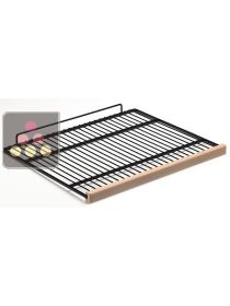 Steel wire storage shelf with wooden front CALICE