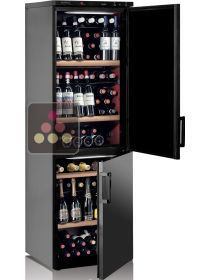 Combined 2 Single temperature wine service and/or ageing cabinets CALICE