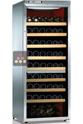 Dual temperature wine cabinet for storage and service
