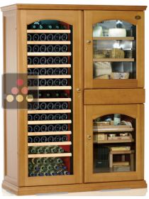 Gourmet combination : Multi-Temperature wine cabinet, cheese cabinet & cigar humidor CALICE