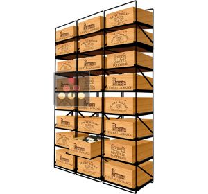 The only solution for storing 24 cases of wine and 288 bottles MODULORACK