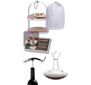 When cheese meets wine: Cheese cabinet + Cutlery Duo + Corkscrew + Decanter L'ATELIER du VIN