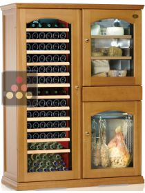 Gourmet combination : Single-temperature wine cabinet, cheese cabinet & cold meat cabinet CALICE