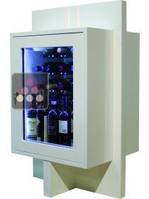 Dual temperature contemporary wine storage or service cabinet ELLEMME