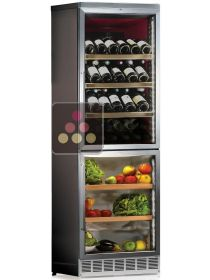 Combined built-in wine cabinet and fruits and vegetables cabinet - Stainless steel internal coating CALICE