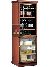 Combined wine service and cheese cabinet CALICE