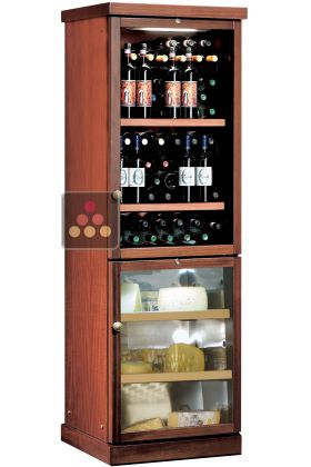 Combined Wine Service And Cheese Cabinet