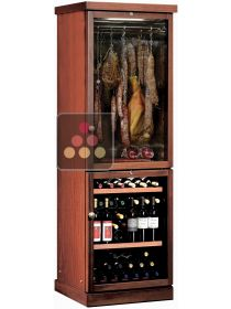 Combined wine service, cold meat and cheese cabinet CALICE