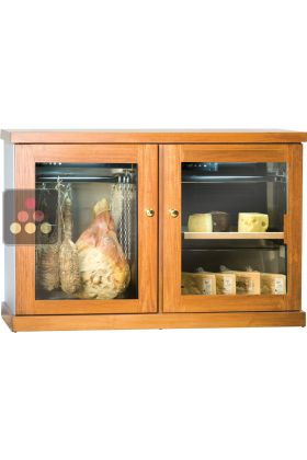 Combined cold meat and cheese cabinet
