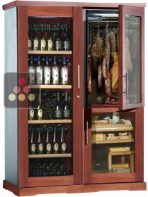 Gourmet combination : wine cabinet, cigar humidor & cold meat cabinet CALICE