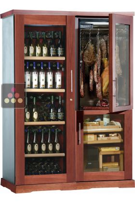 Gourmet Combination Wine Cabinet Cigar Humidor Cold Meat