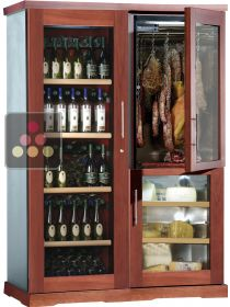 Gourmet combination : wine cabinet, cold meat cabinet & cheese cabinet CALICE