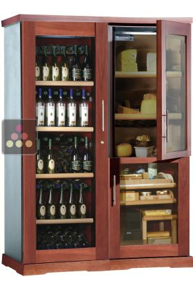 Gourmet Combination Wine Cabinet Cigar Humidor Cheese