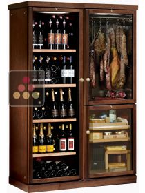 Gourmet combination : wine cabinet, cold meat cabinet & cigar humidor CALICE