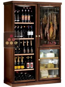 Gourmet combination : wine cabinet, cheese cabinet & delicatessen cabinet CALICE