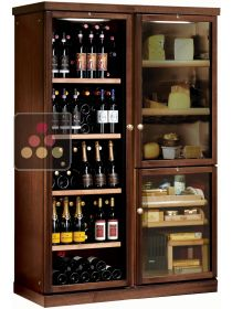 Gourmet combination : wine service cabinet, cheese cabinet & cigar humidor CALICE