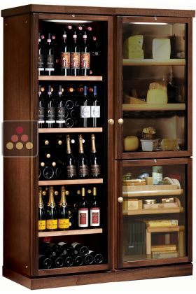 Gourmet Combination Wine Service Cabinet Cheese Cigar Humidor