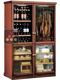 Gourmet combination: wine, cold meat, cheese and cigars CALICE