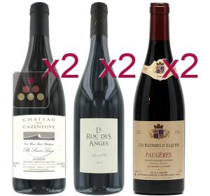 Selection of 6 Red Wines - Great winemakers from Languedoc Sélection Vin