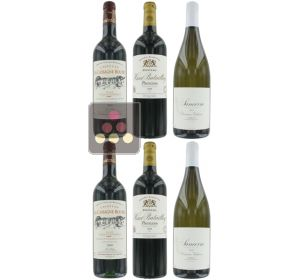 Selection of 4 Red Wines and 2 White Wines - White Loire & Red Bordeaux Sélection Vin