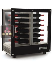 3-sided refrigerated display cabinet for wine storage or service CALICE