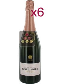 6 Bottles of Bollinger Champagne: Rosé Sélection Vin