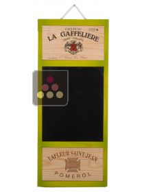 Vertical Board - green with slate & 2 labels CAVIDÉCO PIERRE GOUJON