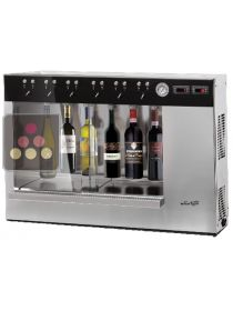 6-bottle wine dispenser with storage system WINE TASTE