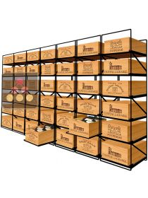 The only solution for storing 42 cases of wine and 504 bottles MODULORACK