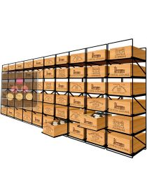 The only solution for storing 60 cases of wine and 720 bottles MODULORACK