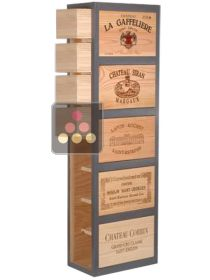 Wooden storage rack with drawers for 16 bottles  CAVIDÉCO PIERRE GOUJON