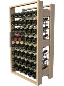 Wooden storage rack for 48 bottles VISIORACK