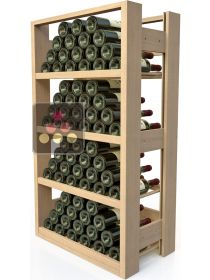 Wooden storage rack for 72 bottles VISIORACK