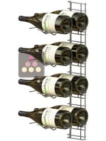 Chromed steel wall rack for 12 x 75cl Magnum bottles - Horizontal bottles VISIORACK