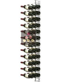 Chromed steel wall rack for 36 x 75cl bottles - Horizontal bottles VISIORACK