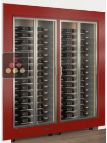 Combination of two modular built in multipurpose wine cabinets CALICE