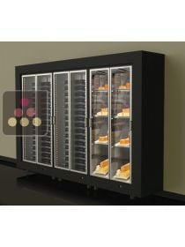 Combination of 3 freestanding modular wine and cheese cabinets CALICE
